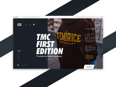 TMC Clothing Website - Modern Clothing Landing Page