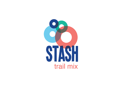 Stash Trail Mix Logo  circles branding color logo