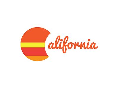 California Sunset Logo vector illustrator design logo sunset california