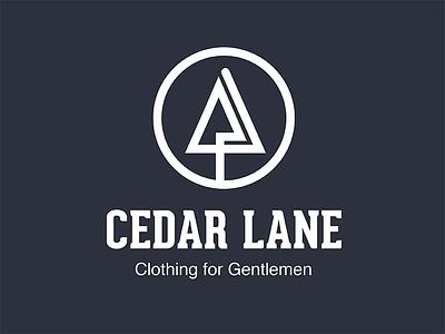 Cedar Lane Logo design illustrator badge vector branding color logo