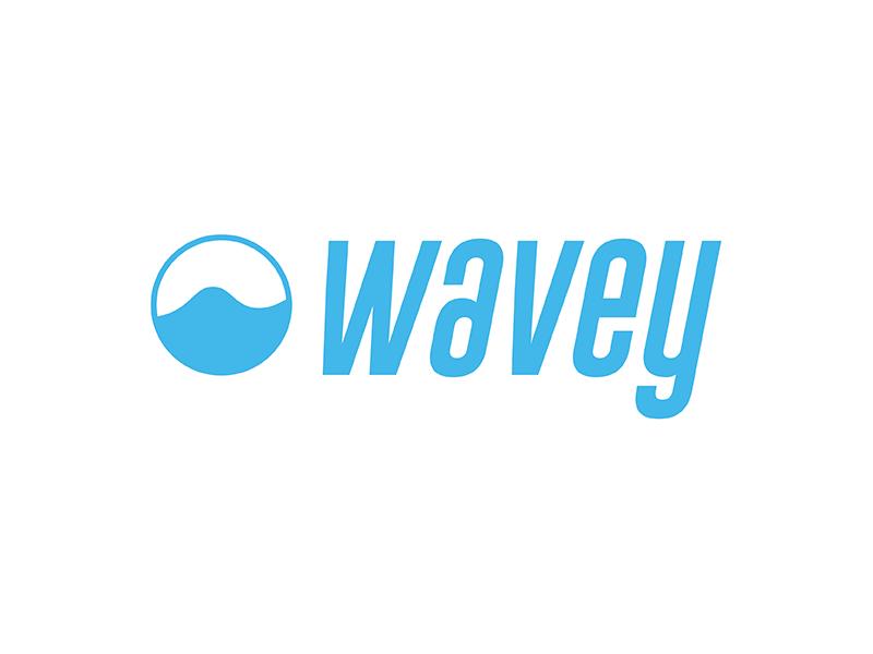 Wavey Logo  blue surf design illustrator vector branding color logo