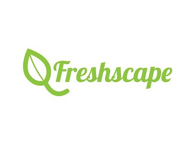 Freshscape Logo branding. fresh logo leaf green
