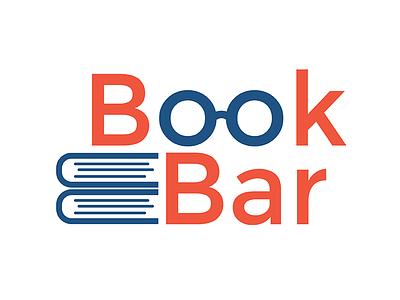 Book Bar Logo blue orange brand identity illustrator vector logo product books graphic design branding