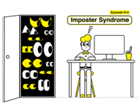 Imposter Syndrome Illustration: Creative Honey Podcast