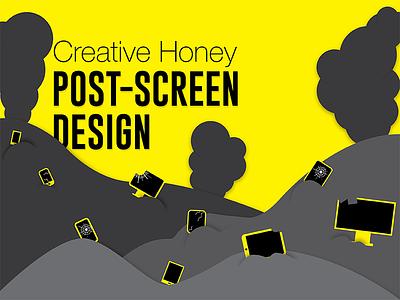 Post Screen Design Illo Dribbble character minimalist yellow black graphics design illustration