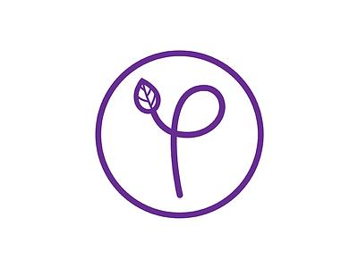 Prospersaurus Logo 2017 Dribbble wellness identity visual vector purple modern minimalist logo health graphic design branding