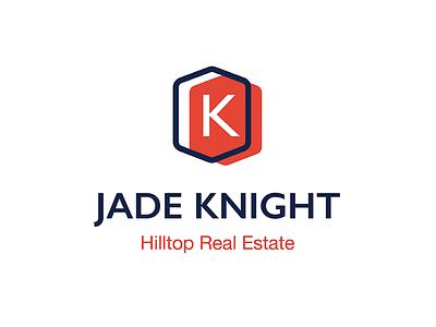 Jade Knight Logo vector graphic design architecture fresh minimalist modern mid-century orange visual identity branding logo real estate