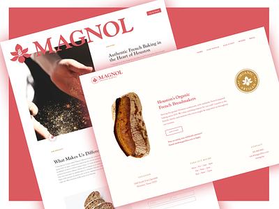 Magnol Web Design web ux typography brand branding logo ui design