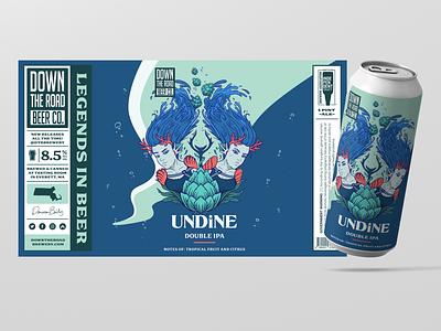 Undine Beer Design identity typography type design illustration