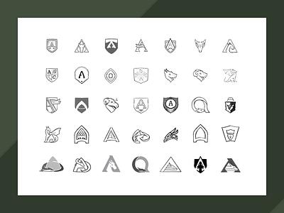Alarad Capital Sketches shield sketching dragon icon identity design brand illustration branding logo