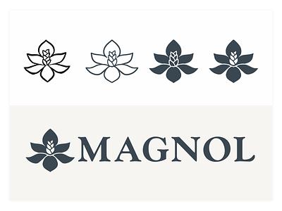 Magnol Progression icon identity wordmark vector type design typography brand branding logo