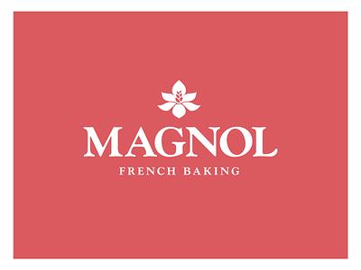 Magnol Vertical Lockup baked goods baking flour flower magnolia wheat bread bakery wordmark vector type identity typography design brand branding logo