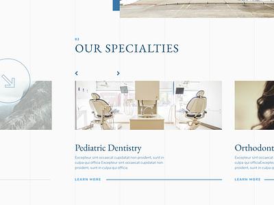 Dental Slider design xd design slider teeth dentist dental webdesign website design web design website xd web typography design brand ui ux