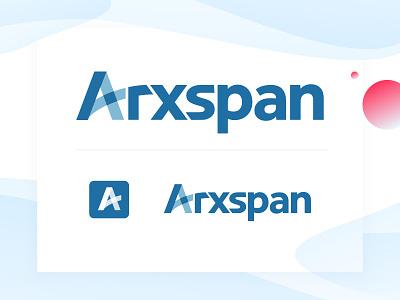 Arxspan Logo wordmark branding tech science logo