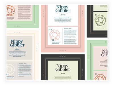 Nippy Colors color typography lettermark wordmark logo branding