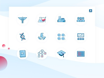 Arxspan Iconography brand tech industry science branding icons vector
