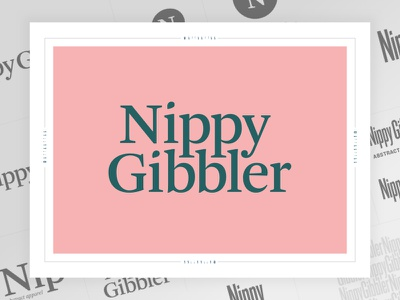 Nippy 2 typography lettermark wordmark logo branding