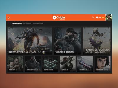 Origin Concept - Dashboard