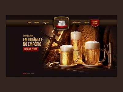 Empório - Site umobi site duff one-page goiânia beer empório