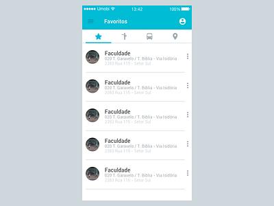 Gynbus - Favorites gynbus material design favorite screen