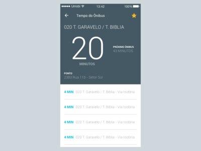 Gynbus - Bus Time bus time gynbus material design favorite screen