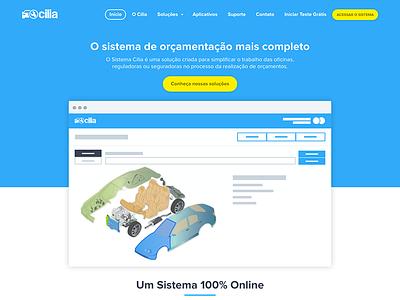 Cilia - Home Page brazil 3d car yellow blue cilia home page