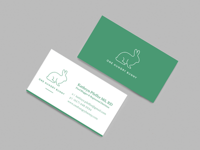 One hungry bunny business cards by sophie london dribbble one hungry bunny business cards colourmoves