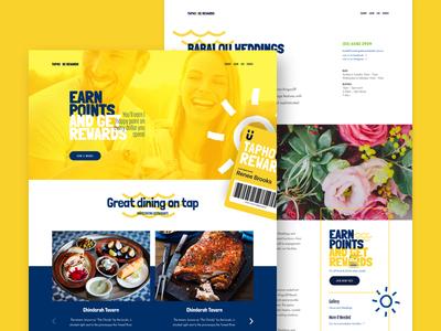 Taphouse Rewards Program micro site overlay ui web