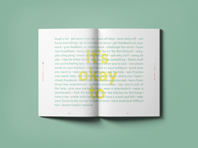 Culture Book agency booklet list print layout culture editorial book