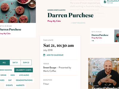 Regional Flavours 2018 event layout typography ui landing page