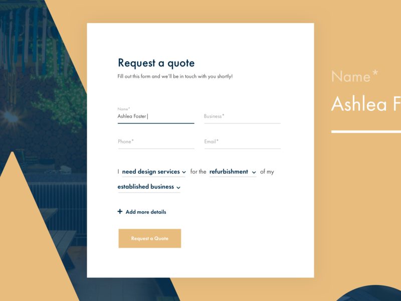 Unita Form typography form design form field web ui
