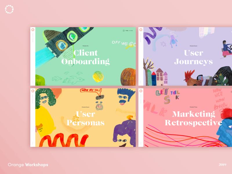 Workshop Slides - Keynote presentation design slideshow illustration agency typography