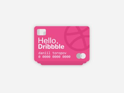 Hello Dribbble! svg inkscape vector design illustration ui design credit cards credit card hello dribbble debut first shot dribbble debut dribbble hellodribbble hello
