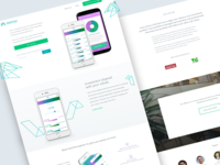 Landing Page for Grow Invest web design ui ux