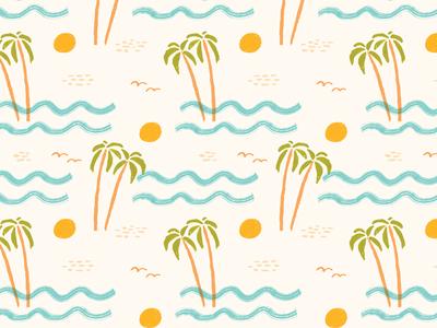 Beach Pattern By Jen B Peters Dribbble