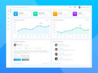 Ui Dashboard design for Rewilla project