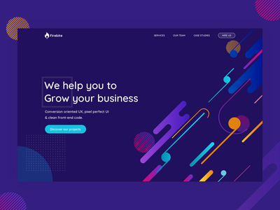 Firebite Agency website studio shape hanoi vietnam saigon rebranding homepage colorful branding basicshape