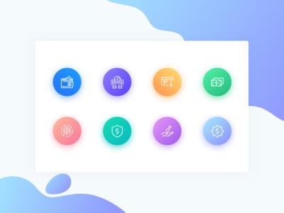 Free Icon Set / Gradients