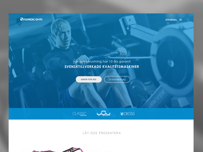Nordic Gym re-design concept redesign website