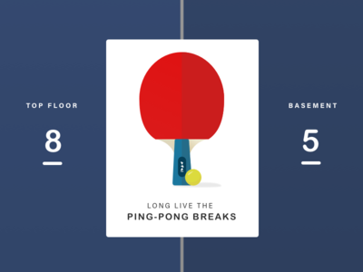 How I clear my mind ping-pong