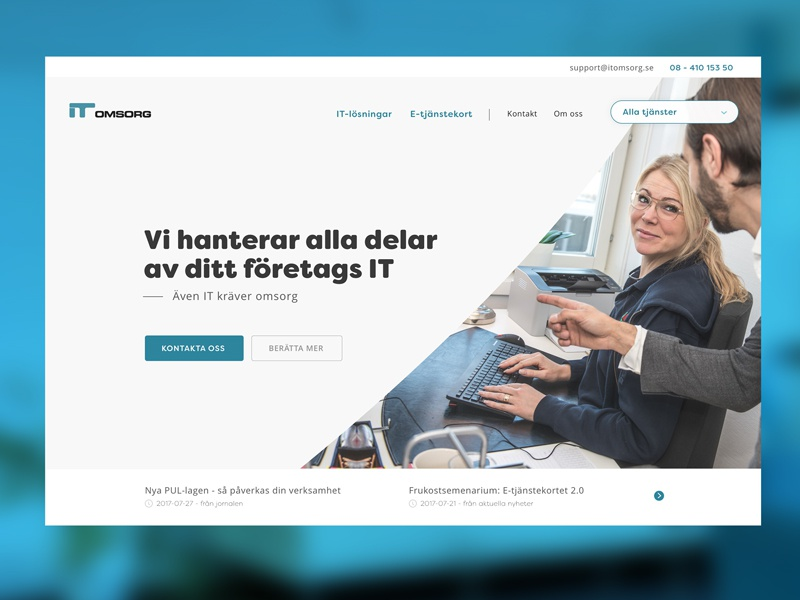 ITO - sneak peek landingpage website