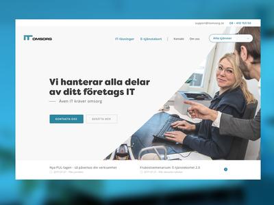 ITO - sneak peek landingpage website