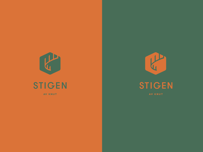 Stigen Logo company illustration path sweden take away logo design logo