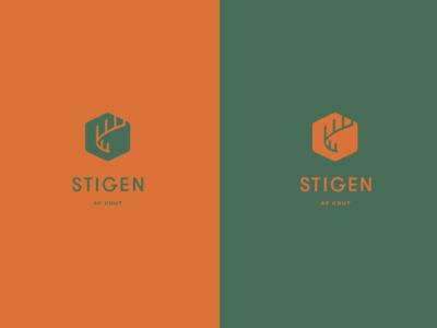 Stigen Logo company illustration path sweden take away logo design logo