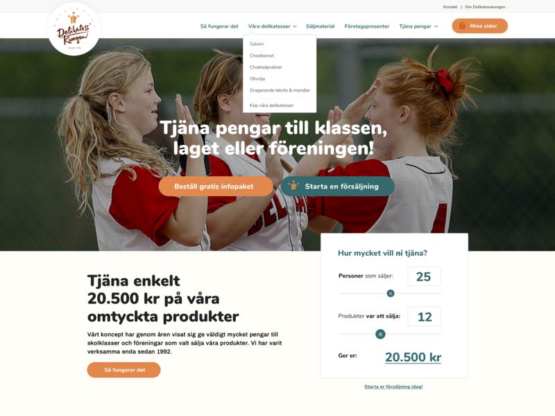 Landing page ui webdesign landingpage website