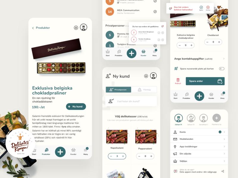 WIP; order management app. wip app design food iphone products cart app