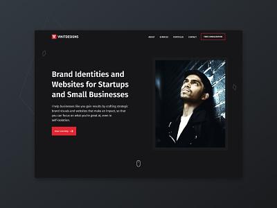 Personal Portfolio Landing Page webflow freelance portfolio portfolio site uitrends uidesignpatterns ux ui landing page website design website webdesign
