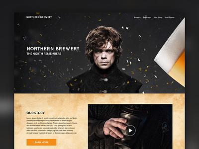Northern Brewery Website uitrends uidesignpatterns uxdesigner product design user experience got lannister game of thrones brewery branding website design landingpage webdesign ux ui