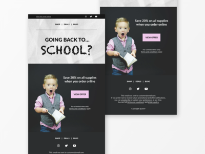 Back to School Email Newsletter