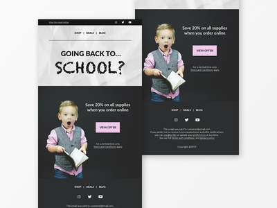 Back to School Email Newsletter promotional design back to school newsletter template newsletter design email newsletter email marketing email campaign email template email design uxdesigner user experience uitrends uidesignpatterns webdesign ux ui